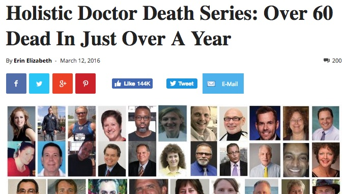 About All Of Those Holistic Doctors Being Murdered - VAXOPEDIA
