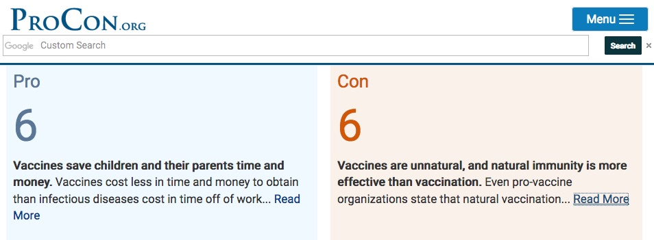 The High Cost Of Vaccines >> What Are The Pro And Con Arguments For Vaccines Vaxopedia